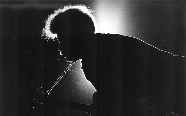 Sonny Sharrock, the guitar man with Herbie Mann, at the Hampton Jazz Festival in 1972.
