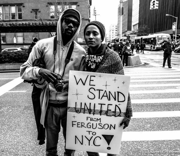 Mark Lomax Black Lives Matter Protesters