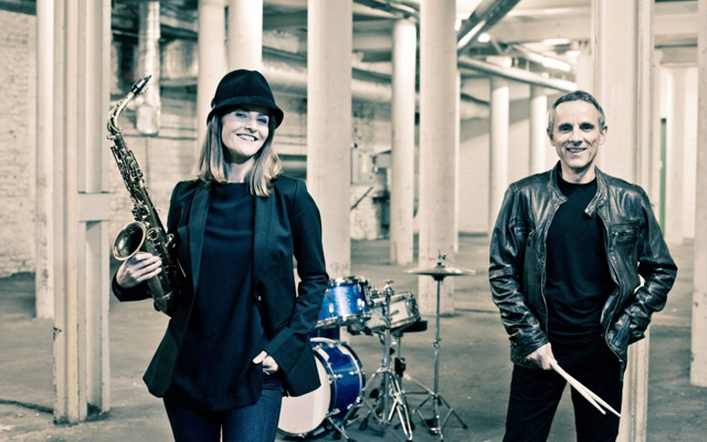 Karolina Strassmayer & Drori Mondlak with Saxophone and Drums