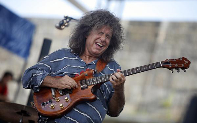 Pat Metheny performs at  the Newport Jazz Festival in Newport, R.I. on Saturday, Aug. 4, 2012. (AP Photo/Joe Giblin)