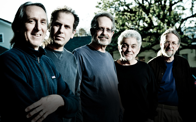 (From left) Michael Landau, Larry Goldings, Walt Fowler, Steve Gadd and Jimmy Johnson of Steve Gadd Band. ##########bcpicks11##########
